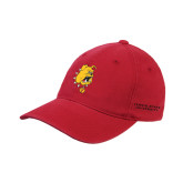 Red OttoFlex Unstructured Low Profile Hat-Bulldog Head