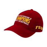 Red OttoFlex Unstructured Low Profile Hat-2018 NCAA Mens Basketball National Champions - Bar