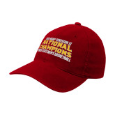 Red OttoFlex Unstructured Low Profile Hat-2018 NCAA Mens Basketball National Champions