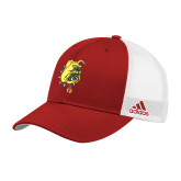 Adidas Red Structured Adjustable Hat-Bulldog Head