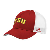 Adidas Red Structured Adjustable Hat-Arched FSU