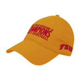Gold Twill Unstructured Low Profile Hat-2018 NCAA Mens Basketball National Champions - Bar