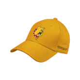 Gold Heavyweight Twill Pro Style Hat-Bulldog Head