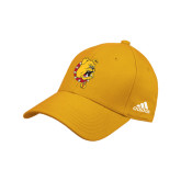 Adidas Gold Structured Adjustable Hat-Bulldog Head