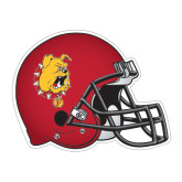 Football Helmet Magnet-Bulldog Head