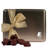 Decadent Chocolate Clusters Gold Large Tin-Bulldog Head Engraved