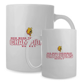 Full Color White Mug 15oz-2016 WCHA Tournament Champions Hockey
