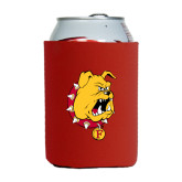 Collapsible Red Can Holder-Bulldog Head