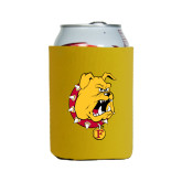 Collapsible Gold Can Holder-Bulldog Head