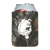 Collapsible Mossy Oak Camo Can Holder-Bulldog Head