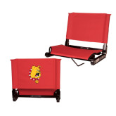 Stadium Chair Red-Bulldog Head