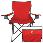 Deluxe Red Captains Chair-Bulldog Head