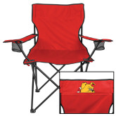 Deluxe Red Captains Chair-Bulldog Head Peeking