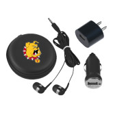 3 in 1 Black Audio Travel Kit-Bulldog Head