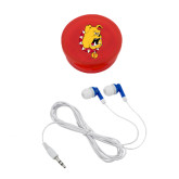 Ear Buds in Red Case-Bulldog Head