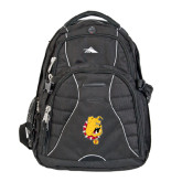 High Sierra Swerve Black Compu Backpack-Bulldog Head