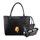Sophia Checkpoint Friendly Black Compu Tote-Bulldog Head