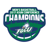 Medium Decal-ASUN Champions 2017 Mens Basketball, 8 inches wide