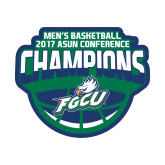 Small Decal-ASUN Champions 2017 Mens Basketball, 6 inches wide