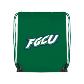 Kelly Green Drawstring Backpack-FGCU