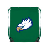 Kelly Green Drawstring Backpack-Eagle Head