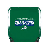 Kelly Green Drawstring Backpack-Regular Season Champions 2017 Mens Basketball Bar Design