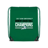 Kelly Green Drawstring Backpack-Asun Conference 2017 Womens Basketball Champions