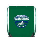 Nylon Kelly Green Drawstring Backpack-ASUN Champions 2017 Mens Basketball