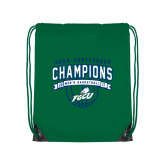Kelly Green Drawstring Backpack-ASUN Champions 2017 Mens Basketball