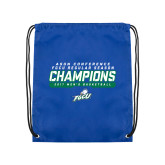 Royal Drawstring Backpack-Regular Season Champions 2017 Mens Basketball Bar Design