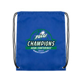 Royal Drawstring Backpack-Asun Conference 2017 Womens Basketball Champions