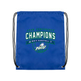 Nylon Royal Drawstring Backpack-ASUN Champions 2017 Mens Basketball