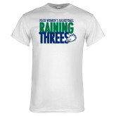 White T Shirt-Raining Threes