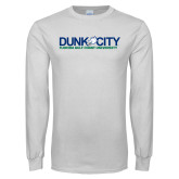 White Long Sleeve T Shirt-Dunk City Official Logo