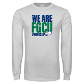 White Long Sleeve T Shirt-We Are FGCU