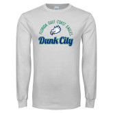 White Long Sleeve T Shirt-Dunk City Script