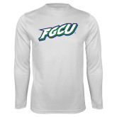 Performance White Longsleeve Shirt-FGCU