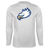 Performance White Longsleeve Shirt-Eagle Head