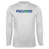 Syntrel Performance White Longsleeve Shirt-FGCU at 20 Flat