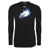 Under Armour Black Long Sleeve Tech Tee-Eagle Head