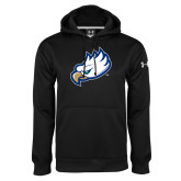 Under Armour Black Performance Sweats Team Hood-Eagle Head