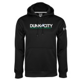Under Armour Black Performance Sweats Team Hood-Dunk City Official Logo
