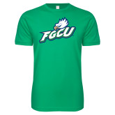Next Level SoftStyle Kelly Green T Shirt-Primary Athletic Mark