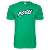 Next Level SoftStyle Kelly Green T Shirt-FGCU