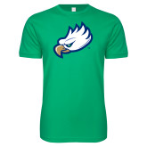 Next Level SoftStyle Kelly Green T Shirt-Eagle Head
