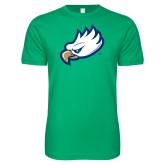 Next Level SoftStyle Kelly Green T Shirt-Eagle Head