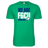 Next Level SoftStyle Kelly Green T Shirt-We Are FGCU