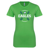 Next Level Ladies SoftStyle Junior Fitted Kelly Green Tee-Baseball Seams