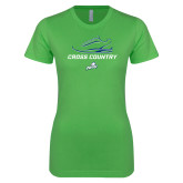 Next Level Ladies SoftStyle Junior Fitted Kelly Green Tee-Cross Country Shoe