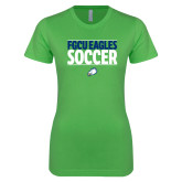 Next Level Ladies SoftStyle Junior Fitted Kelly Green Tee-Stacked Soccer